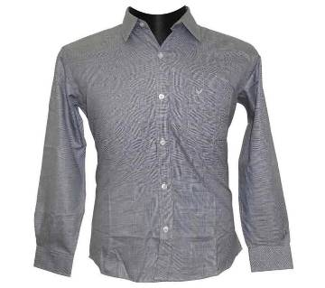 Deep Gray Glen Plaid Shirt