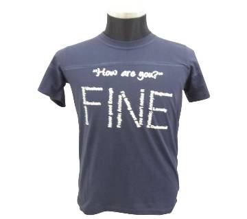 Navy Blue Stitch T-Shirt
