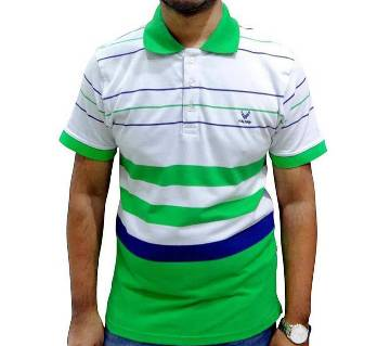 Pigment Green Combo Polo Shirt