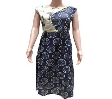 Blue Joypuri Cotton Kurti