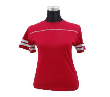Jester Red Ladies Stretched T-Shirt