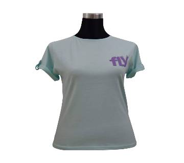 C. Water Fold Sleeve Ladies T-Shirt