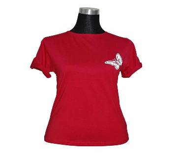 J. Red Fold Sleeve Ladies T-Shirt
