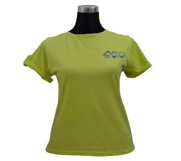 Lemon V Fold Sleeve Ladies T-Shirt