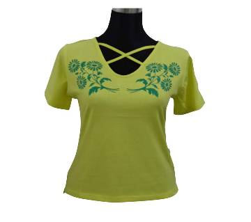 Lemon V-Neck Ladies T-Shirt
