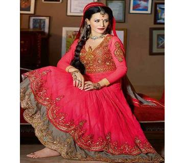 UnStitched Georgette Embroidery Gown (Copy)