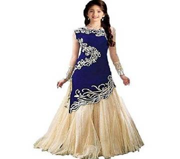 Semi-Stitched Georgette Embroidery Gown (Copy)