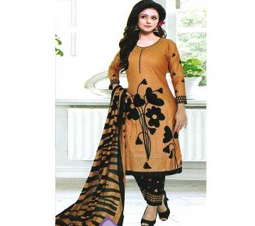 Unstitched Cotton Printed Lawn Three Piece