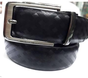 black artificial casual leather belt for men
