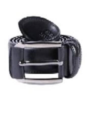 artificial leather black belt for men