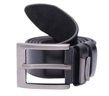 artificial leather belt black for men