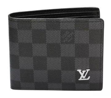 artificial leather black wallet for men