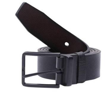 artificial leather belt black for men