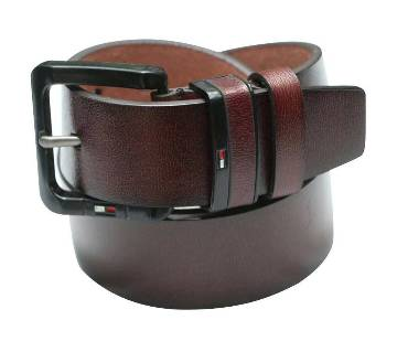 Chocolate Leather Belt for Men