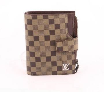 pu leather wallet brown