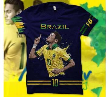 neymar 10 প্রিন্টেড টি শার্ট ফর মেন