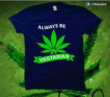 Always Be Vegetarian মেনজ হাফ স্লিভ টি-শার্ট