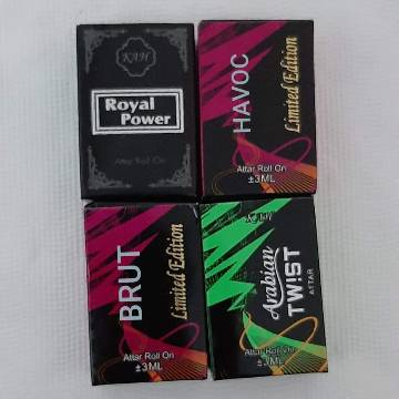 Combo 4 Flavour Concentrated Perfume (Attor) (Axe,Brut,Fogg,Havoc) - France