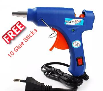 Hot Met Glue Gun with Free 10pcs Stick