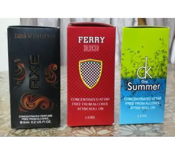 3pcs Combo roll on perfume(Attar) -6ml-BD
