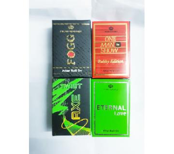 4 Pcs Concentrated Perfume (Attor) Combo -  One Man Show, EL, Axe, Fogg