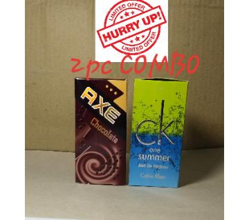 2 pcs Roll On Concentrated Perfume (Attor) 6ml each (Axe & CK)