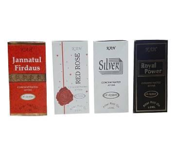 Jannatul Firdous, Red Rose, Silver & Royal Power আতর-4ps-6ml-BD