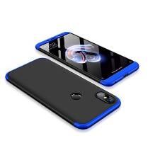 360 Full Protection ব্যাক কাভার কেস for Xiaomi Redmi Note 5 Pro - Blue and Black