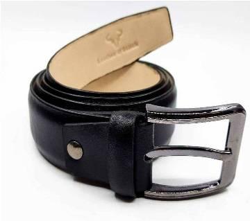 L&S Black Formal Belt (Bangladesh Origin Cow Finished Leather)