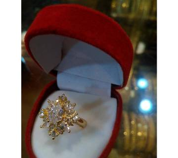 Ladies Gold Plated Stone Finger Ring