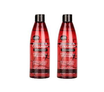 Biotin & Collagen Hair Thickening Balancing Shampoo Hair Fall Solution Pack Of 2 800ml - USA
