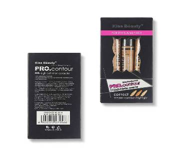 Kiss Beauty Make Up Pro Concealer And Contour Set - China