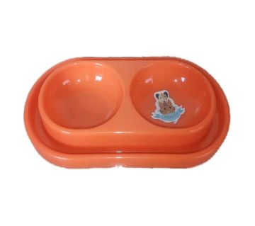 Pet Feeding Bowl (Dual) - orange