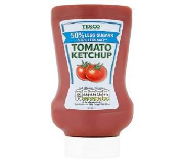 Tesco Top Down Tomato Ketchup Reduced Sugar And Salt 525G