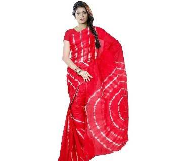 batik tie dye red saree