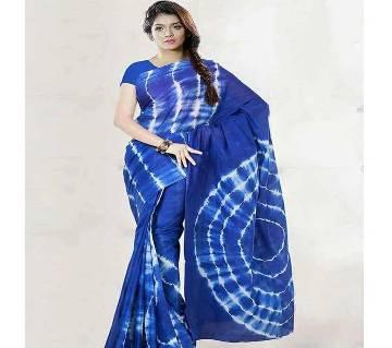 batik tie dye blue saree
