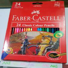 FABER-CASTELL 24 Classic Color Pencils Full Size (1 Packet)