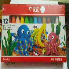 TiTi Non-Toxic Color Oil Pastels 12 pieces (1 packet)
