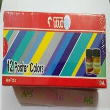 TiTi Non-Toxic Poster Colors 12 pieces (1 packet)