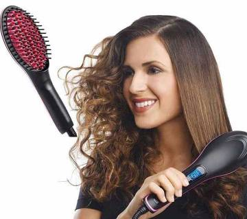 Simple Straight Ceramic Hair Stretcher Brush