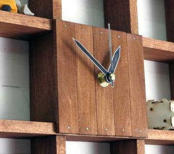 Wall Showcase with clock