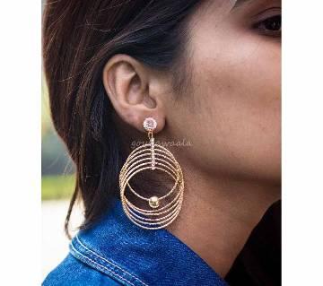 Diamond Cut Round Shaped Earrings