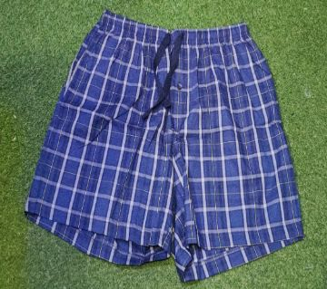 Blue Check Cotton Boxer For Men
