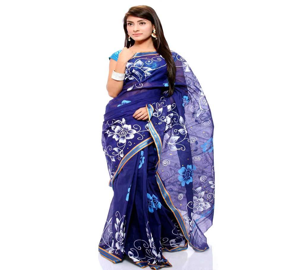 কটন কোটা হ্যান্ড প্রিন্ট শাড়ি বাংলাদেশ - 939633
