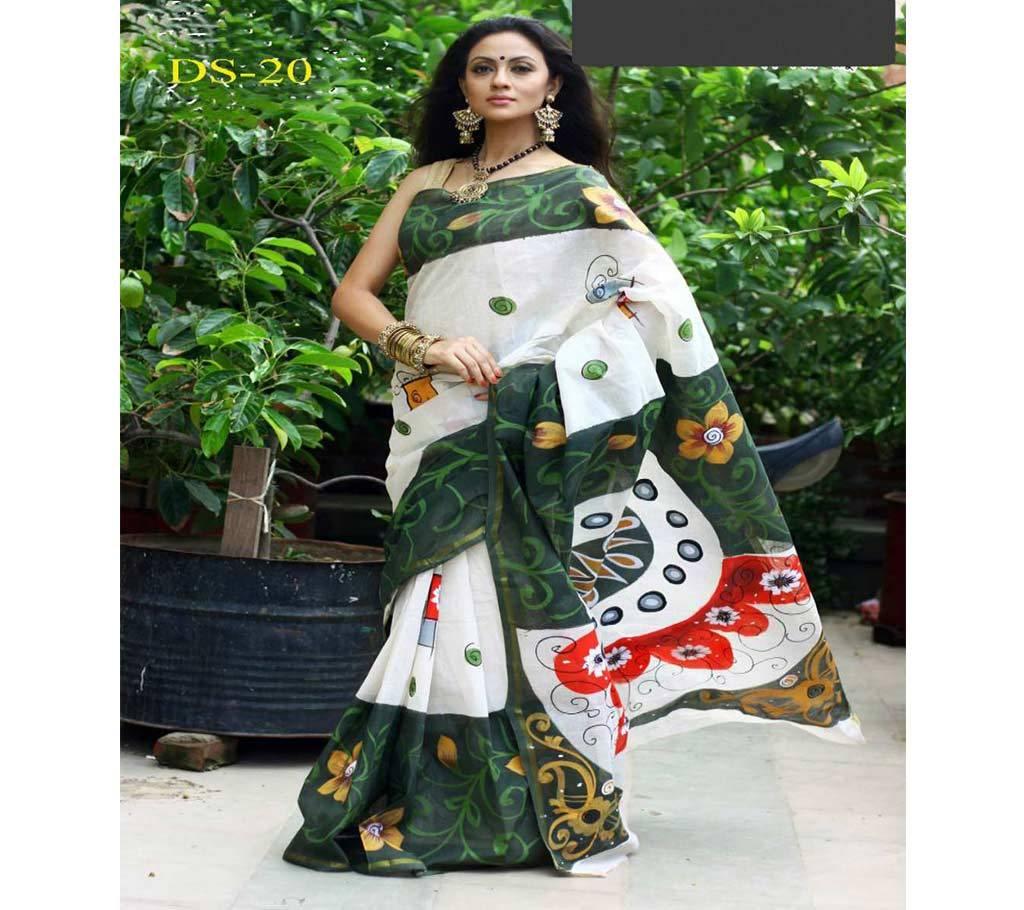 কটন কোটা হ্যান্ড প্রিন্ট শাড়ি বাংলাদেশ - 939646