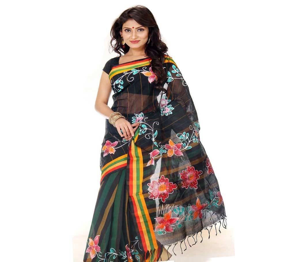 কটন কোটা হ্যান্ড প্রিন্ট শাড়ি বাংলাদেশ - 939656