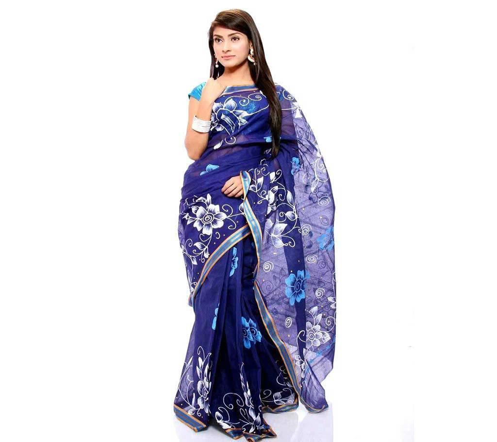 কটন কোটা হ্যান্ড প্রিন্ট শাড়ি বাংলাদেশ - 979452