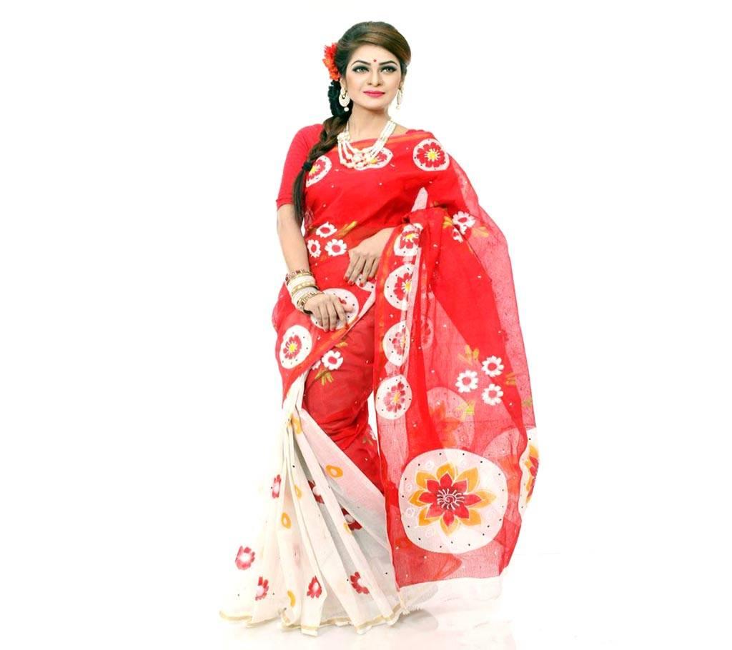 কটন কোটা হ্যান্ড প্রিন্ট শাড়ি বাংলাদেশ - 979454