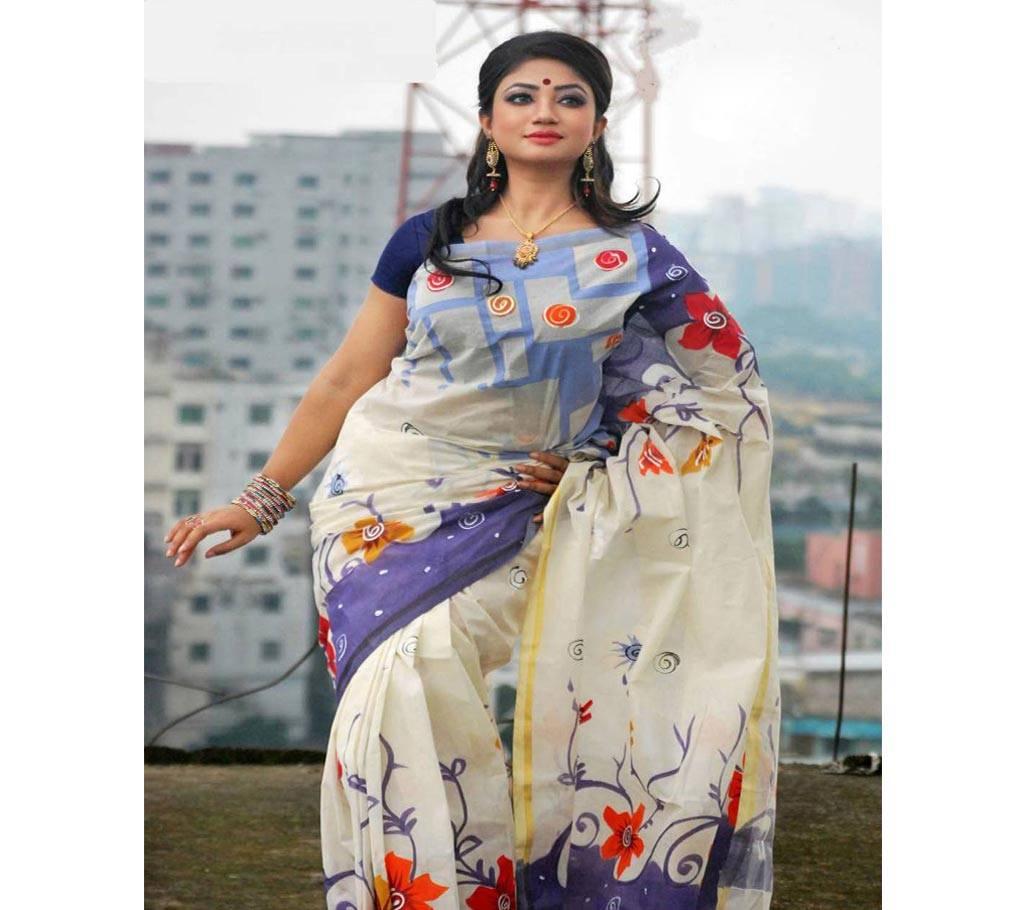কটন কোটা হ্যান্ড প্রিন্ট শাড়ি বাংলাদেশ - 979456
