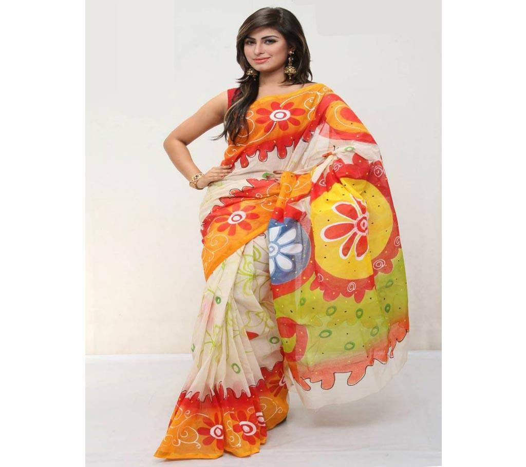 কটন কোটা হ্যান্ড প্রিন্ট শাড়ি বাংলাদেশ - 979459